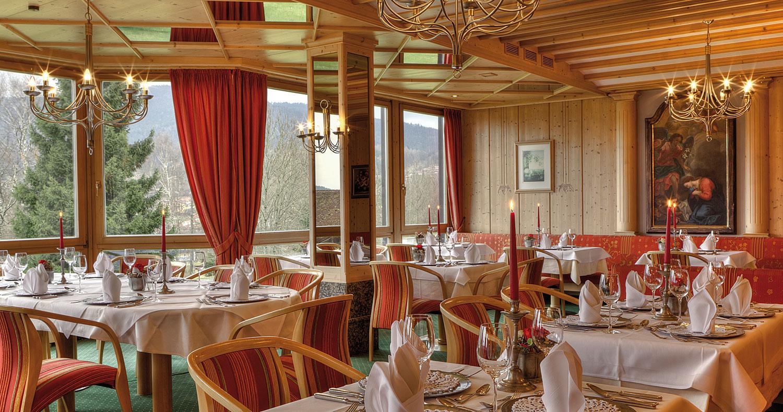 Panoramarestaurant im Wellnesshotel Bayerischer Wald